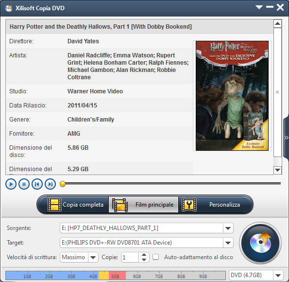 Xilisoft Copia DVD